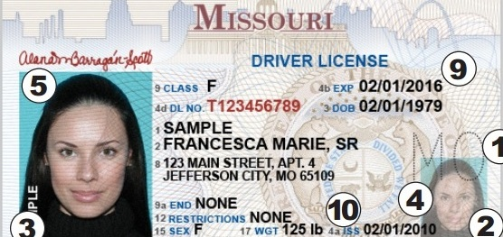 Missouri Drivers License Security Features